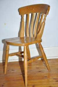 Pine, Soon To Be Purple Chair