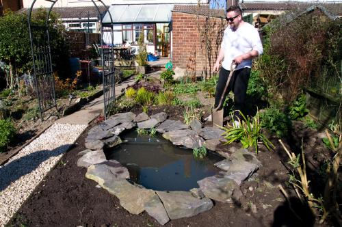 Pond Completed, Apart From Some Planting.