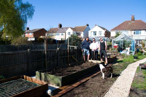 And here they are, my super access raised beds which I hope will help feed us!